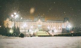 Vinterberättelse från Iasi, Rumänien royaltyfri foto