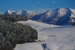Vinterberg på en ljus solig dag Royaltyfri Fotografi