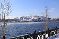 Vinterberget i Tagil arkivfoto