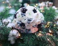 Vinterbröllopbukett Royaltyfri Foto