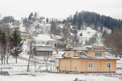 Vinterby. Arkivfoto