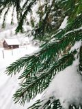 Vinterbygdlandskap royaltyfri bild