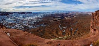 Vintercanyoin i Arizona, USA Arkivbild