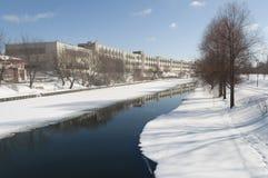 Vintercityscape Arkivfoto