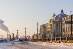 Vinterdag i St Petersburg Arkivbild