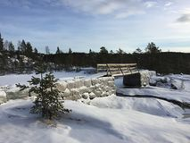 Vinterdag Norge Fotografering för Bildbyråer