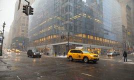 Vinterdag NYC Fotografering för Bildbyråer