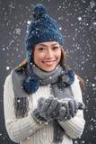 Vinterdam Royaltyfri Bild