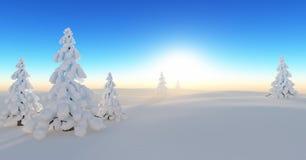 Vinterdröm vektor illustrationer