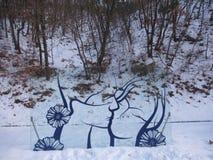 Vinterförälskelse Fotografering för Bildbyråer