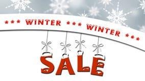 Vinterförsäljning - affärsförsäljningsbegrepp stock illustrationer