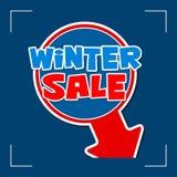 Vinterförsäljning - informationstecken Arkivbild