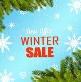 Vinterförsäljningsaffisch vektor illustrationer
