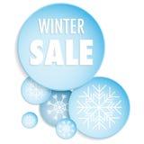 Vinterförsäljningsbaner Arkivfoto