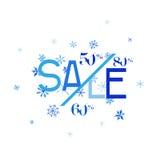 Vinterförsäljningsbaner Arkivbild