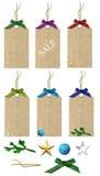 Vinterförsäljningsetiketter Royaltyfria Bilder