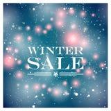 Vinterförsäljningskort Arkivbild