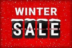 Vinterförsäljningsmotsvarighet som bläddrar röd text royaltyfri illustrationer