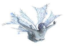 vinterfe för tolkning 3D på vit Royaltyfri Fotografi