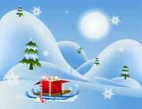 Vinterferier Vektor Illustrationer