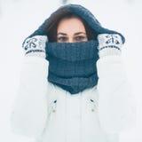 Vinterflicka Arkivbilder