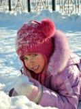 Vinterflicka Arkivfoto