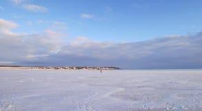 Vinterflod Arkivbild
