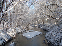 Vinterflod Fotografering för Bildbyråer
