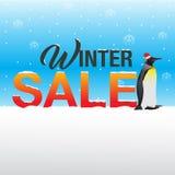 Vinterförsäljningsbakgrund Royaltyfria Foton