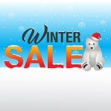 Vinterförsäljningsbakgrund Royaltyfri Foto