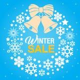 Vinterförsäljningsbakgrund Royaltyfria Bilder