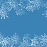 Vintergarnering från snöflingor Vektor Illustrationer