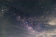 Vintergatan är vår galax Denna astronomiska pho för lång exponering Royaltyfria Foton