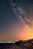 Vintergatan över havrefältet Royaltyfria Foton