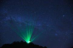 Vintergatan över observatoriet Royaltyfri Bild