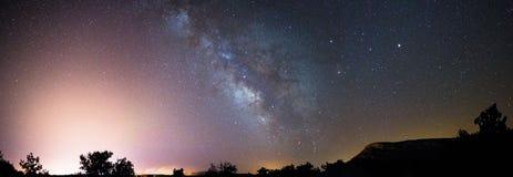 Vintergatan över Valonsadero Arkivbild