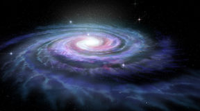 Vintergatan för spiralgalax
