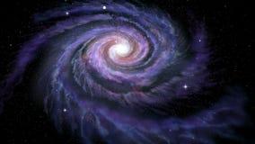 Vintergatan för spiralgalax arkivfilmer