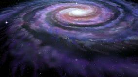 Vintergatan för spiralgalax stock video