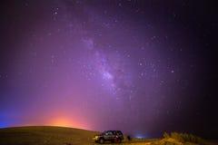 Vintergatan från öknen Royaltyfri Fotografi