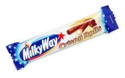 Vintergatan frasiga Rolls Arkivbild