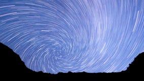 Vintergatan i bergen spiral Tid schackningsperiod lager videofilmer