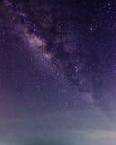 Vintergatan i himlen Arkivbild