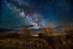Vintergatan i landet Arkivbild