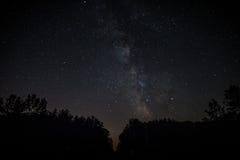 Vintergatan i Wisconsin Arkivfoto