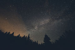 Vintergatan och Shooting Stars över Breckenridge Colorado Royaltyfria Foton