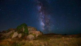 Vintergatan och stjärnorna Arkivbild