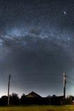 Vintergatan ovanför mitt hus Royaltyfria Foton