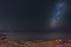 Vintergatan på Majjistral parkerar Royaltyfri Fotografi
