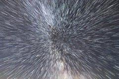 Vintergatangalax Utrymmelopp på hastigheten av ljus Tid lopp Arkivfoton